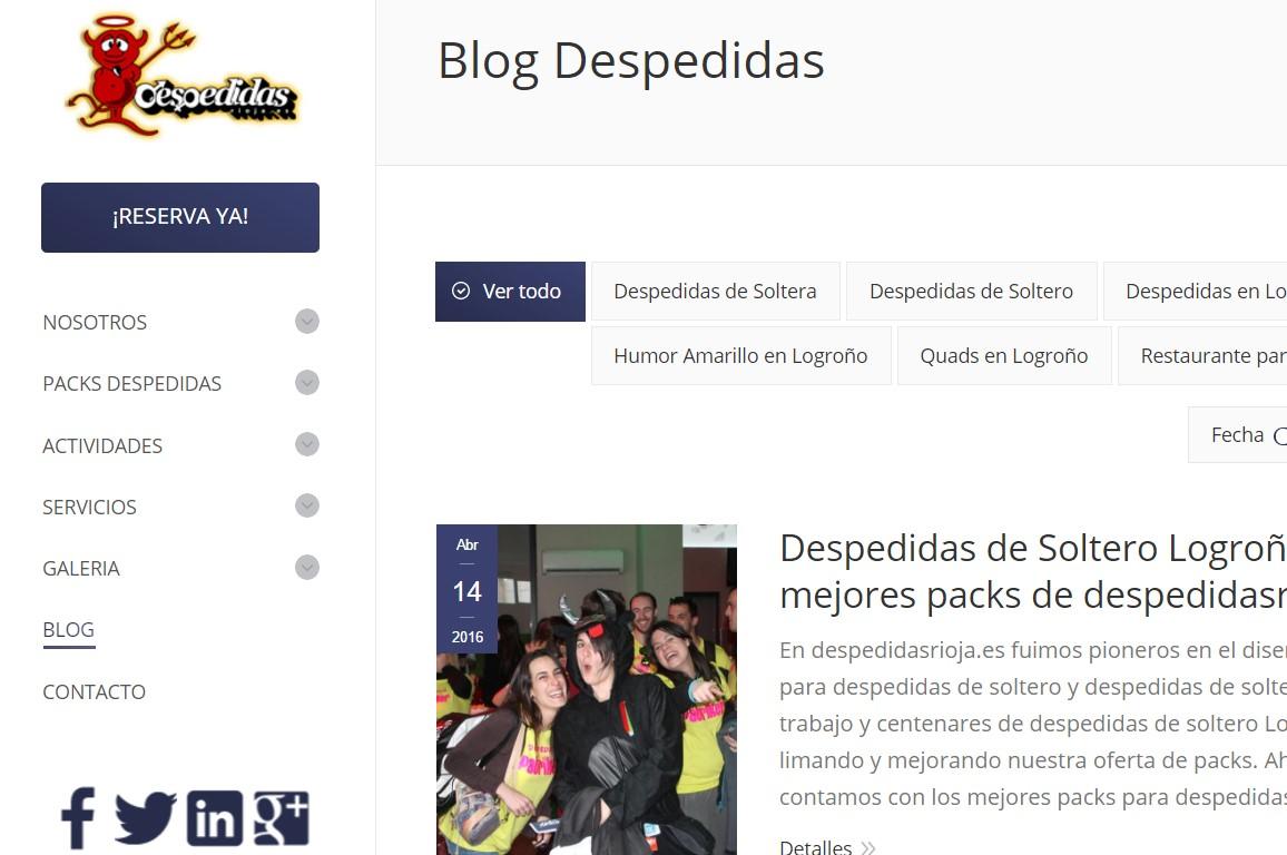 002 Diseño Web Logroño Desarrollo Web Despedidas Rioja