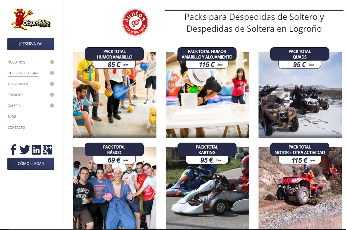 004 Diseño Web Logroño Desarrollo Web Despedidas Rioja de evento aniversario Ayedo Logroño (Medium)