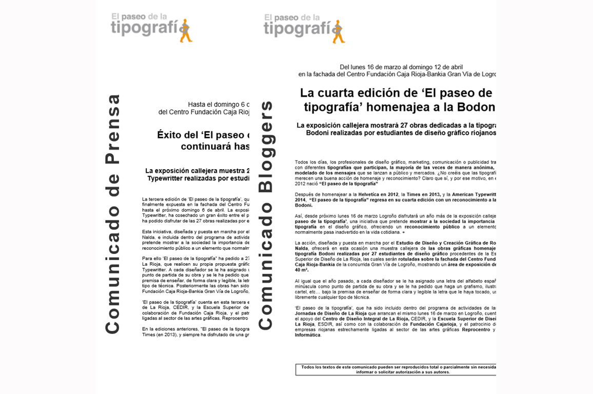 Gabinete de Prensa - Ejemplo de un comunicado de prensa - Equiza Comunicación - Logroño - La Rioja