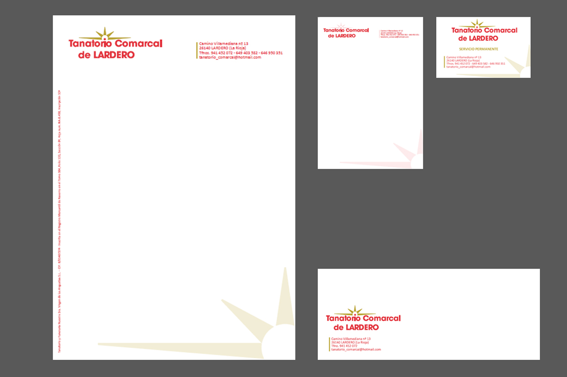 identidad corporativa - Ejemplo papelería corporativa - Equiza Comunicación - Logroño La Rioja